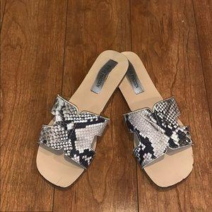 Steve Madden Snake Print Sandals